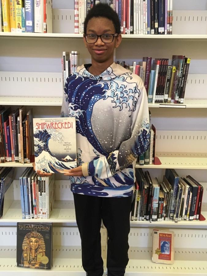 Abdallah dressed like his book